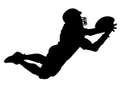Receiver Diving Catch Silhouette Decal Sticker