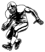 Running Back v3 Decal Sticker