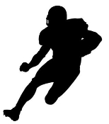 Running Back Silhouette v2 Decal Sticker