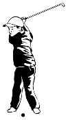 Child Golfer Decal Sticker