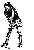 Female Golfer v2 Decal Sticker
