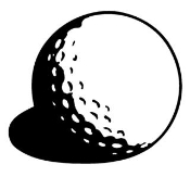 Golf Ball Decal Sticker