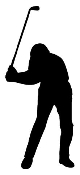 Golfer Silhouette v1 Decal Sticker