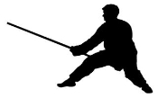 Martial Arts Silhouette 1 Decal Sticker