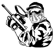Paintball 5 Decal Sticker