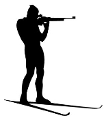 Skiing and Shooting Decal Sticker