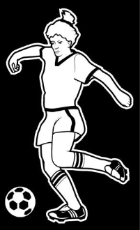 Soccer Girl 1 Decal Sticker