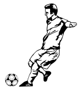 Soccer Player 1 Decal Sticker