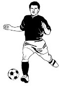 Soccer Player 2 Decal Sticker