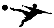 Soccer Player Silhouette 1 Decal Sticker