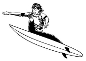 Surfer 2 Decal Sticker