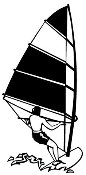 Windsurfer 1 Decal Sticker