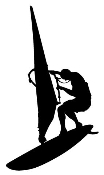 Windsurfer Silhouette 2 Decal Sticker