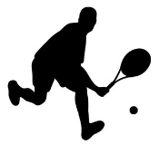 Tennis Player Silhouette 2 Decal Sticker