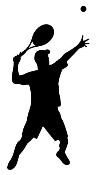 Tennis Player Silhouette 5 Decal Sticker