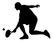 Tennis Player Silhouette 6 Decal Sticker