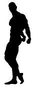 Bodybuilder Silhouette 1 Decal Sticker