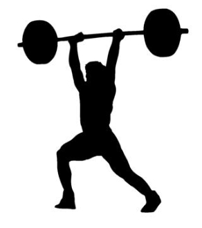 Powerlifter Silhouette 1 Decal Sticker