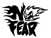 No Fear Flaming Skull Decal Sticker