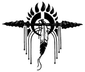 Spear and Feather Design Decal Sticker