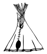 Teepee 1 Decal Sticker