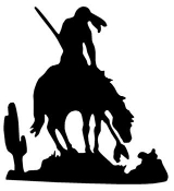 Warrior on Horse 2 Decal Sticker