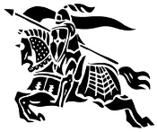 Jousting Knight v3 Decal Sticker