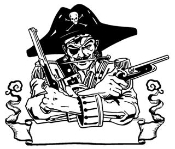 Pirate 5 Decal Sticker
