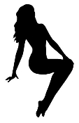 Girl Posing 1 Decal Sticker