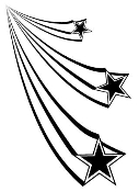 Shooting Stars 1 Decal Sticker