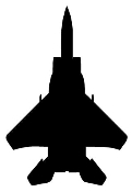 Fighter Jet Silhouette 1 Decal Sticker