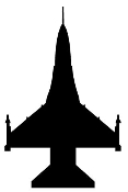 Fighter Jet Silhouette 2 Decal Sticker