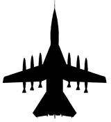 Fighter Jet Silhouette 3 Decal Sticker