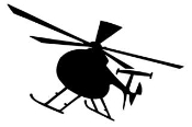 Helicopter 1 Decal Sticker