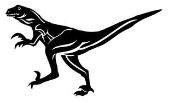 Deinonychus Decal Sticker