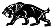 Sabre-Tooth Tiger Decal Sticker