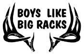 Boys Like Big Racks Decal Sticker