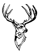 Deer Head 1 Decal Sticker