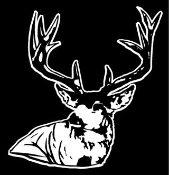 Deer Head 3 Decal Sticker