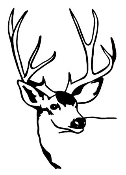 Deer Head 5 Decal Sticker