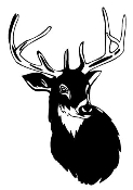 Deer Head 6 Decal Sticker