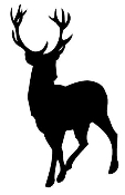 Deer Silhouette 1 Decal Sticker