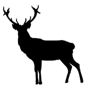Deer Silhouette 2 Decal Sticker