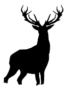 Deer Silhouette 3 Decal Sticker
