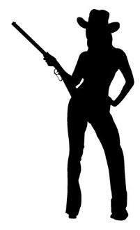 Cowgirl Silhouette V4 Decal Sticker