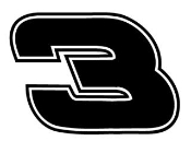 Earnhardt 3 Decal Sticker