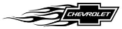 Chevy Flame Left Decal Sticker