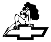 Chevy Girl v2 Decal Sticker