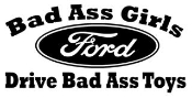 Bad Ass Girls Ford Decal Sticker