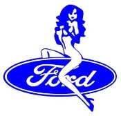 Ford Girl v2 Decal Sticker